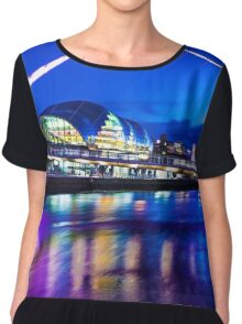 Newcastle Quayside In Colour Chiffon Top