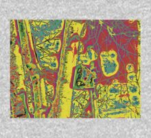 ABSTRACT TREE AND BIRDHOUSE One Piece - Long Sleeve