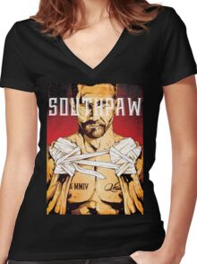 Jake Gyllenhaal - Southpaw Women's Fitted V-Neck T-Shirt