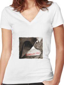 Archaeology Rocks Women's Fitted V-Neck T-Shirt