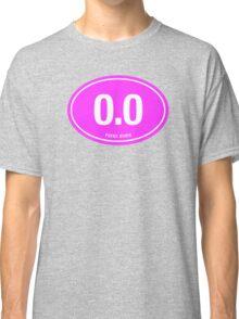 0.0 - NO FUCKS GIVEN - Pink Classic T-Shirt