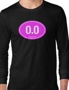 0.0 - NO FUCKS GIVEN - Pink Long Sleeve T-Shirt