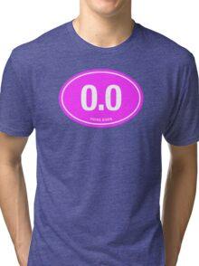 0.0 - NO FUCKS GIVEN - Pink Tri-blend T-Shirt