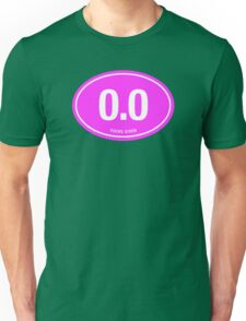0.0 - NO FUCKS GIVEN - Pink Unisex T-Shirt