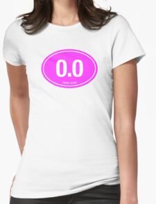 0.0 - NO FUCKS GIVEN - Pink Womens Fitted T-Shirt