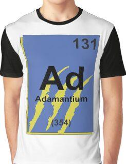 Adamantium Periodic Table - Wolverine Graphic T-Shirt