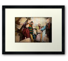 Jewish - Food for the less fortunate 1908 Framed Print