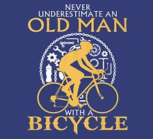 old man with a bicycle Unisex T-Shirt
