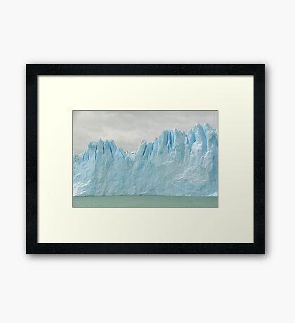 Sky Glacier Water Framed Print