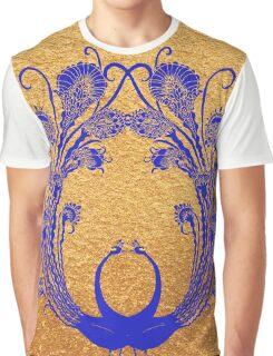 Blue peacocks Graphic T-Shirt