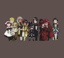 Black Butler Cast One Piece - Short Sleeve