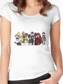 Black Butler Cast Women's Fitted Scoop T-Shirt