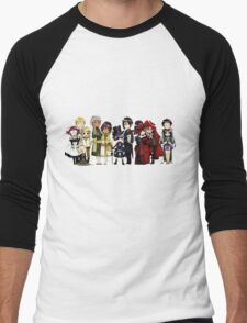 Black Butler Cast Men's Baseball ¾ T-Shirt