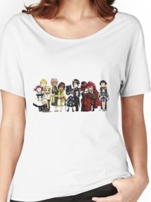 Black Butler Cast Women's Relaxed Fit T-Shirt