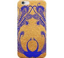 Blue peacocks iPhone Case/Skin