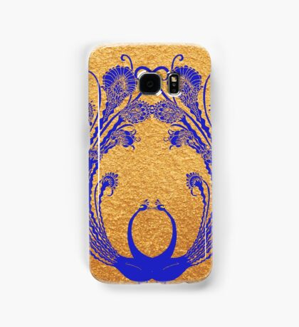 Blue peacocks Samsung Galaxy Case/Skin
