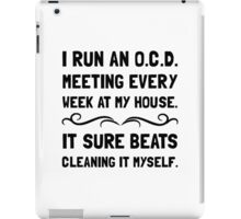 OCD Cleaning House iPad Case/Skin