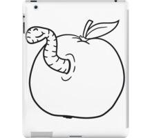 apple worm sweet disgusting hole larva caterpillar eating iPad Case/Skin