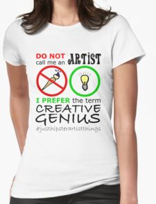 Creative Genius - Hipster Geek Womens Fitted T-Shirt