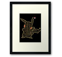 Pokemon Pikachu Maze Framed Print