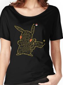 Pokemon Pikachu Maze Women's Relaxed Fit T-Shirt
