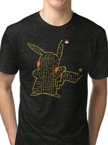Pokemon Pikachu Maze Tri-blend T-Shirt