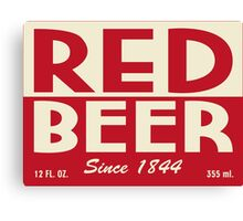 Red Beer Canvas Print