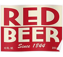 Red Beer Poster