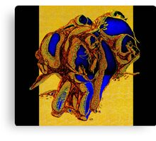 FIVE IN THE STONES ON ANCIENT CHINESE SILK Canvas Print