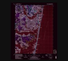 USGS TOPO Map New Jersey NJ Point Pleasant 254767 1989 24000 Inverted Unisex T-Shirt