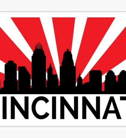 Cincinnati Sunrise Skyline Sticker