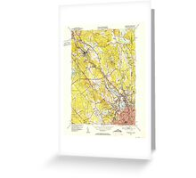 USGS TOPO Map Rhode Island RI Pawtucket 353440 1949 31680 Greeting Card