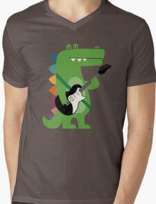 Croco Rock Mens V-Neck T-Shirt