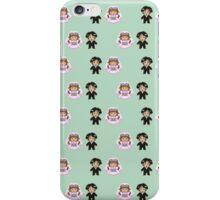8-bit Bride and Groom Pattern iPhone Case/Skin