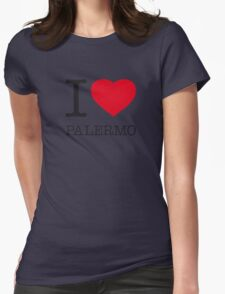 I ♥ PALERMO Womens Fitted T-Shirt