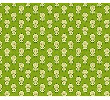 Cute Chick Green Pattern Photographic Print