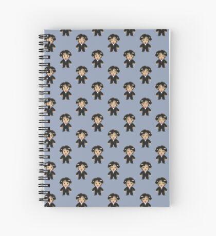 8-bit Groom Pattern Spiral Notebook