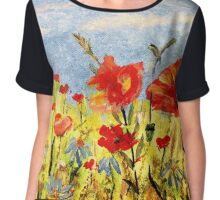 Wildflowers in Acrylics Chiffon Top