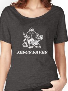 Jesus Saves Hockey Goalie Women's Relaxed Fit T-Shirt