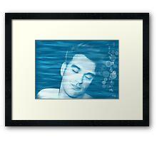 Morrissey. I' m slipping below the waterline Framed Print