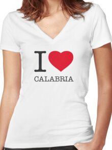 I ♥ CALABRIA Women's Fitted V-Neck T-Shirt