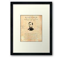 Robert Clay Allison Wanted Framed Print