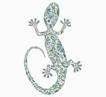 Zentangle Lizard One Piece - Short Sleeve