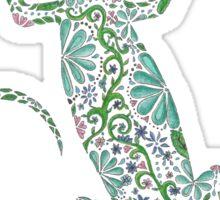 Zentangle Lizard Sticker