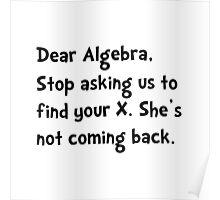 Dear Algebra Poster