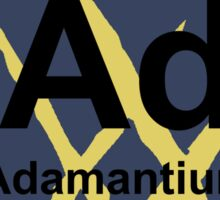 Adamantium Periodic Table - X23 Sticker