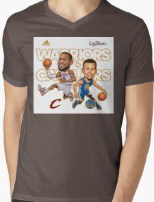 Warriors Vs Cavaliers Mens V-Neck T-Shirt