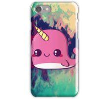 kawaii narwhale  iPhone Case/Skin