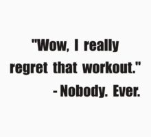 Workout Quote Kids Tee
