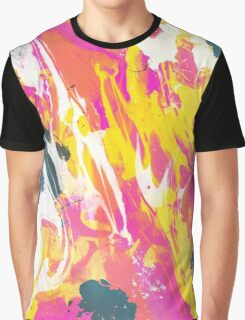 Phux and yellow psychedelic marble ink Graphic T-Shirt